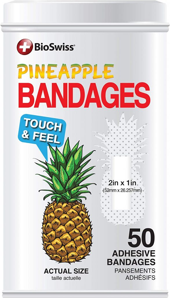 IVF Must-Have number 15 is a container of bandages with pineapples on them.